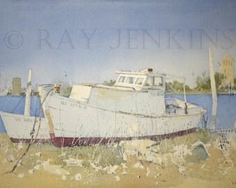 Outerbanks North Carolina Fishing Boats Ocracoke