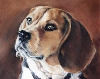 Custom Pet Portrait, Dog Portrait, Animal Art, Custom Paintings, Oil Painting, 8x10