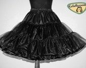 50's vintage black petticoat organza double layer custom made