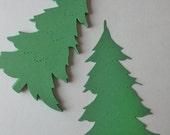 12 Handmade Die Cut Christmas Trees, Green, Christmas, Embelishments, Scrabooking, Card Making