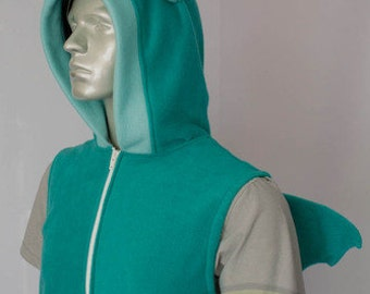 Dragon Hoodie, Costume, Cosplay, Adult Size, Hand-made