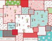 """Riley Blake Designs, LITTLE RED RIDING Hood By Tasha Noel (24) 5"""" Quilt Fabric Squares (1 of each print)"""