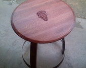 Inlaid Grape End Table / Bistro Table