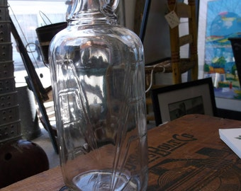 Vintage Indiana Glass Maple Syrup Bottle - New Old Stock - Sugaring 1950s