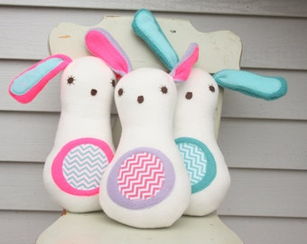 Spring Bunny - Plush Fleece Toy