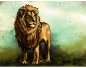 Lion, King of the Jungle - Canvas Print