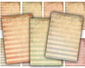 Digital Collage Sheet Download - Shabby Stripe Tags -  391  - Digital Paper - Instant Download Printables