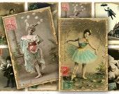 Antique Photo Postcards Digital Collage Sheet Download - 638 - Digital Paper - Instant Download Printables