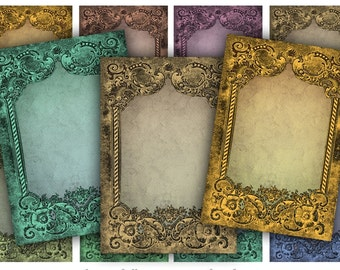 Digital Collage Sheet Download - Antique Frames -  637  - Digital Paper - Instant Download Printables