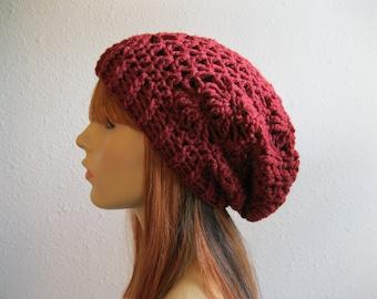 CLEARANCE SALE 30% OFF Crochet Beanie - Slouchy Beanie - Crochet Slouchy Beanie - Winter Hats - Crochet Beanie Hat - Slouchy Beanie Hat