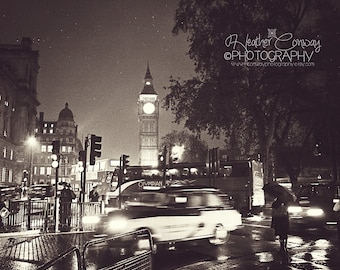 London Photograph, Digital Download, Big Ben Photo, Night Photo of Big Ben, London Night Photography -signed print Fine Art Photography