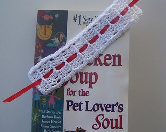 Bookmark, Crochet Bookmark,  Book Lover's Gift, Woven Bookmark