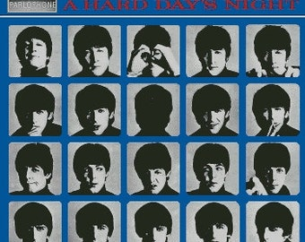 """The Beatles - """"A Hard Day's Night"""" Album Cover Cross Stitch Pattern"""