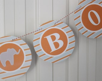 MOD ELEPHANT Baby Shower or Happy Birthday Party Banner - Party Packs Available