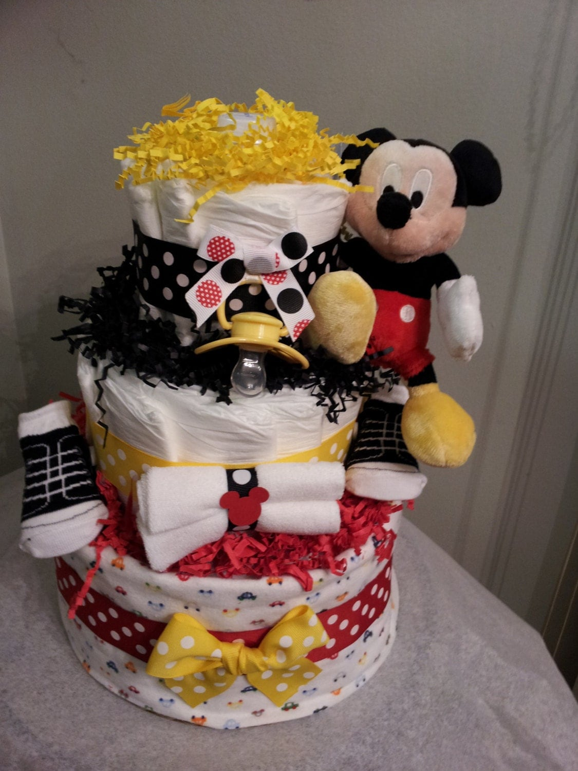 Mickey Mouse 3 Tier Diaper Cake