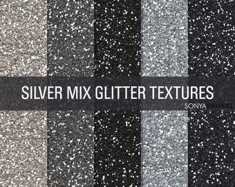 Silver Glitter, Digital Papers, Glitter Digital, Glitter Papers, Glitter Textures, Glitter Backgrounds, Digital Glitter
