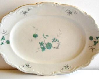 Victorian Mitterteich Bavarian Platter in the Green Ming pattern