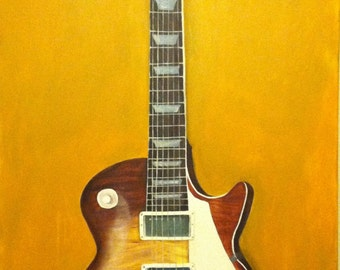 Gibson Les Paul Guitar painting