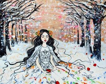 """Snow White ORIGINAL 20""""x33"""" painting"""