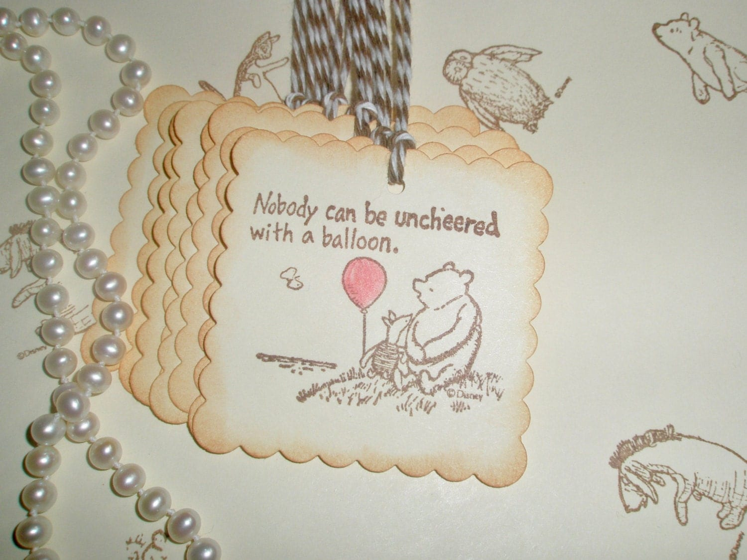 winnie the pooh favor gift tags wedding tags gift tags pooh