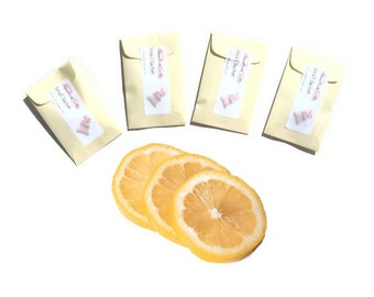 Sachets Fresh Lemon Homemade in USA Favors Seed Packet Baby Bridal Shower Sunshine Prize Yellow Decor Small Spring Gift Aromatherapy