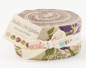 Audra's Iris Garden Jelly Roll by Brannock and Patek for Moda - One Jelly Roll - 2100JR