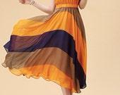 Orange Dress Chiffon women dress Summer - fashiondress6