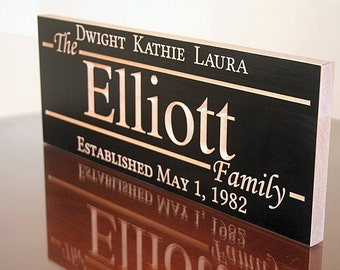 5 Year Anniversary Gift, Engagement Date Sign, 5th Anniversary Sign, Benchmark Signs, 5yr Anniversary Gift, Benchmark Custom Signs, Maple EE