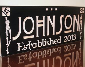 5 Year Anniversary Gift, Last Name Sign, Wood Anniversary, Family Established Sign, 5yr Anniversary Gift, Benchmark Signs Maple LD