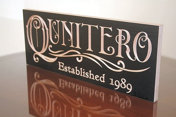 Custom Established Sign, Special Date Sign,  Benchmark Custom Signs Maple QQ