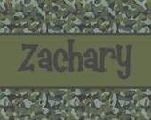 Personalized Beach Towel - Camouflage Camo