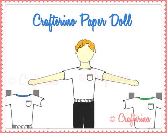 Crafterino Paper Doll PDF Printable - DIY Craft Kit - Party Favor - Child Toy - Play & Pretend - Ballet