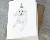 Schnoodle Dog Birthday Card.