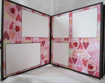Vintage Valentine Scrapbook Album, Premade Mini  Album by Island Lilly Designs