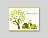20 Baby Shower Thank You Cards - Mommy Daddy Baby Turtle