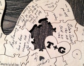 Sample Puzzle Piece for our Laser-Cut Wood Wedding Guest Book Puzzles