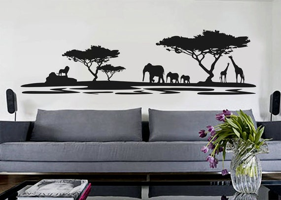 Safari Wall Art african decor african safari wall decal vinyl decor art