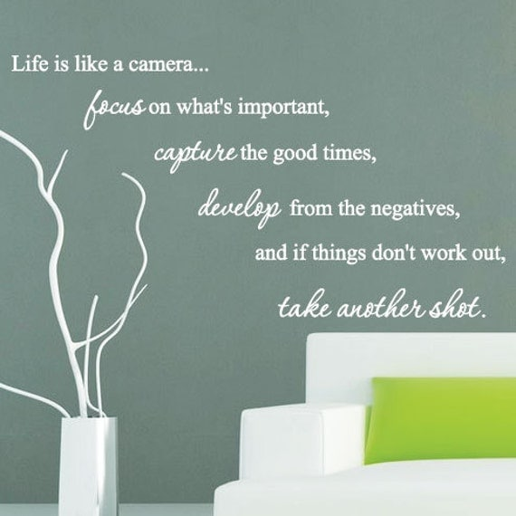 Life Wall Quotes Pleasing Life Is Like A Camera Family Art Wall Quotes  Wall Stickers