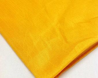 Sunny Yellow Poly Silk Blend - Semi Dupioni - Dupioni Silk Blend Fabric by Yard