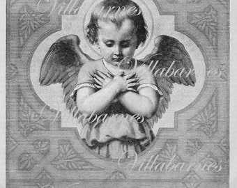 1800's Angel Image, Digital Download, Illustration Graphic