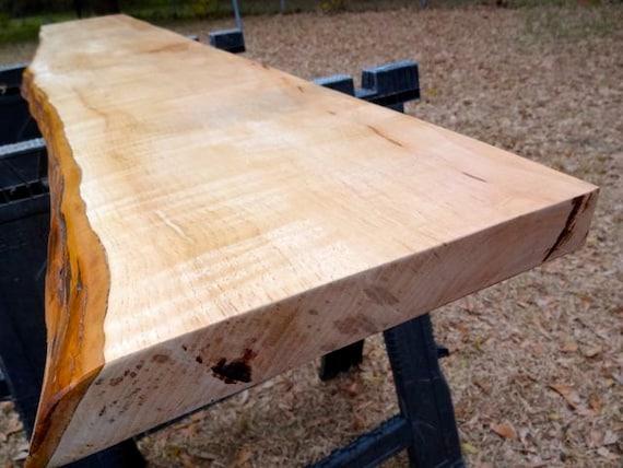 Large Live Edge Pecan Solid Hardwood Slab By Hurricanemilling