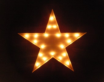 FREE SHIPPING Industrial Marquee Star Light Vintage Style