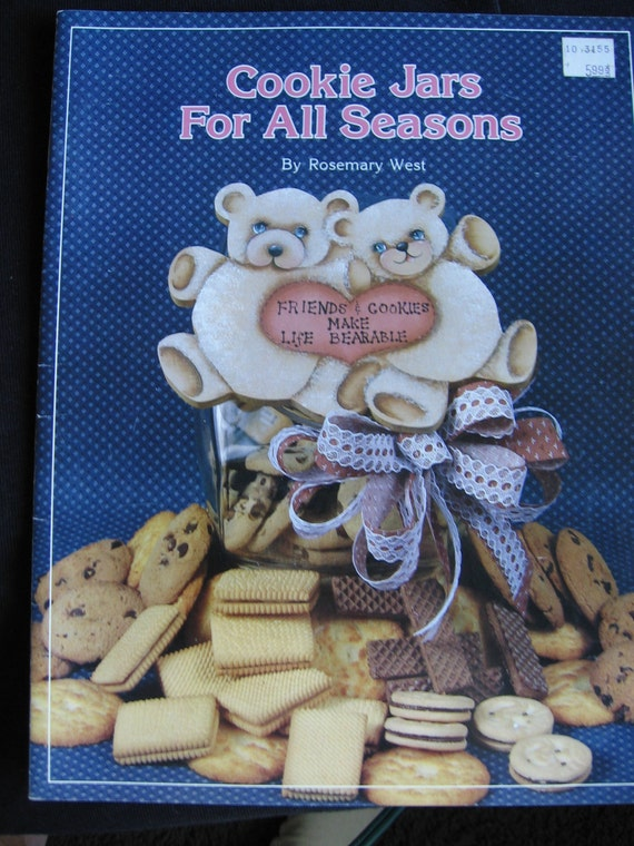 Cookie Jars for All Seasons Tole Painting Pattern Book Instruction Booklet Christmas July 4th