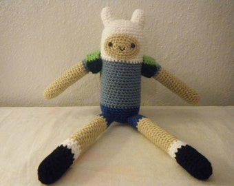 Sale!! Adventure Time Inspired Finn the Human Doll Made to Order Use code THNX2017 for 15% off