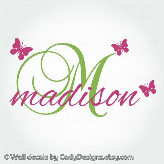 Girl Name Wall Decals Personalized Vinyl Wall by ...