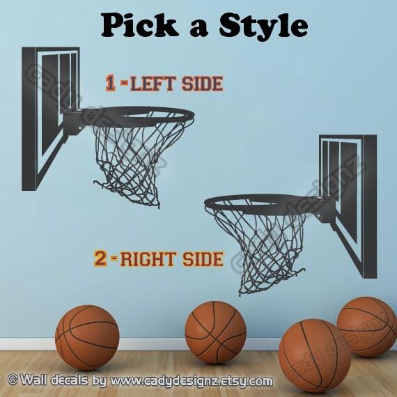 Basketball Hoop Vinyl Decal Sports Decal Boys Girls Sports