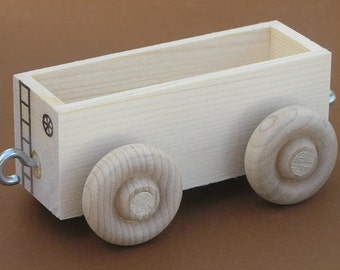 Wooden Toy Train Gondola Car