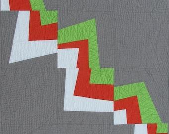 Modern Quilt Pattern, Improv Pieced Pattern, Flash Burn Quilt