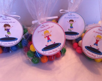 Trampoline Party Favor Bags - Trampoline Birthday Party Favor - Trampoline Favor
