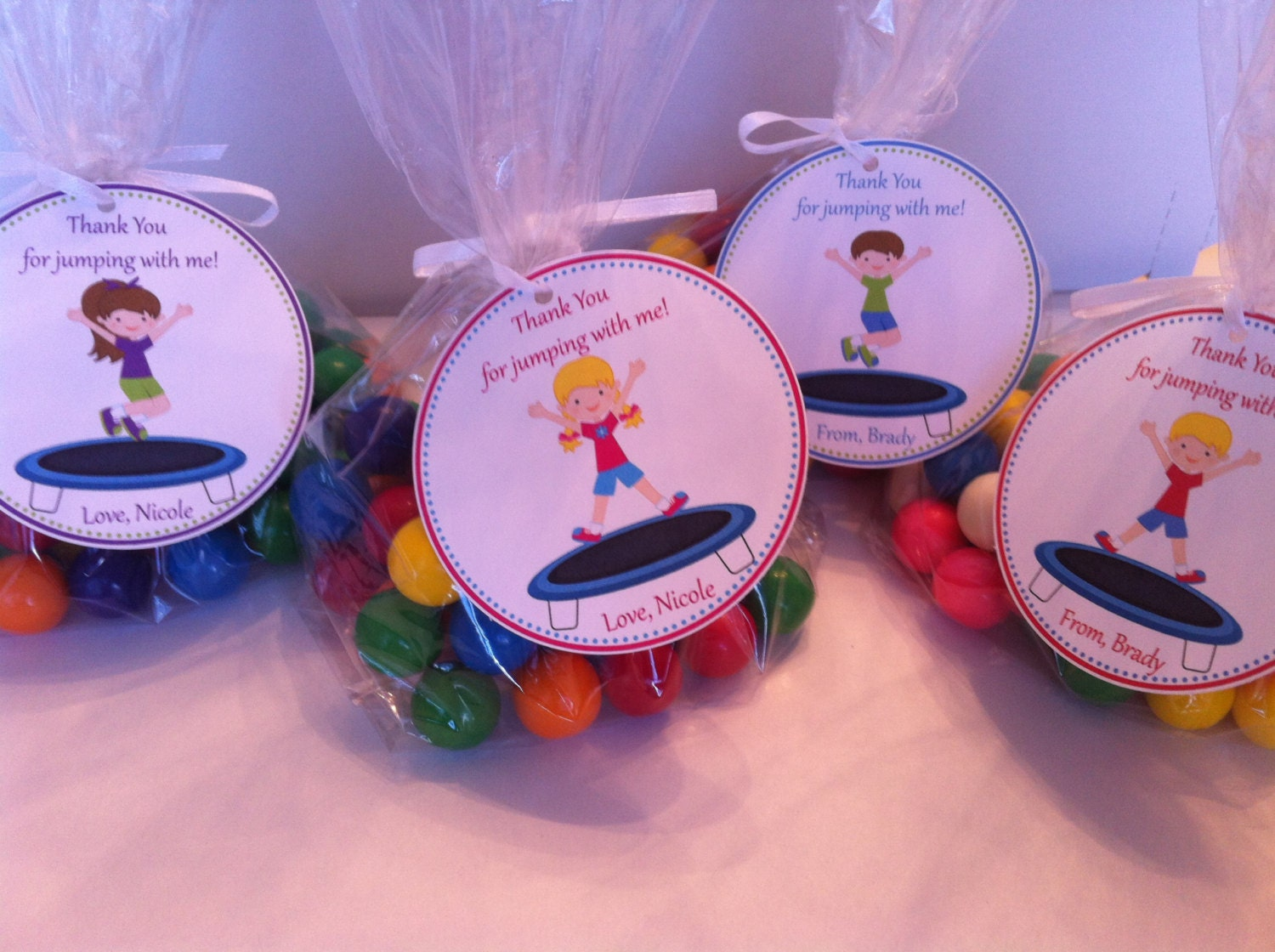Trampoline Party Favor Bags Trampoline Birthday Favors